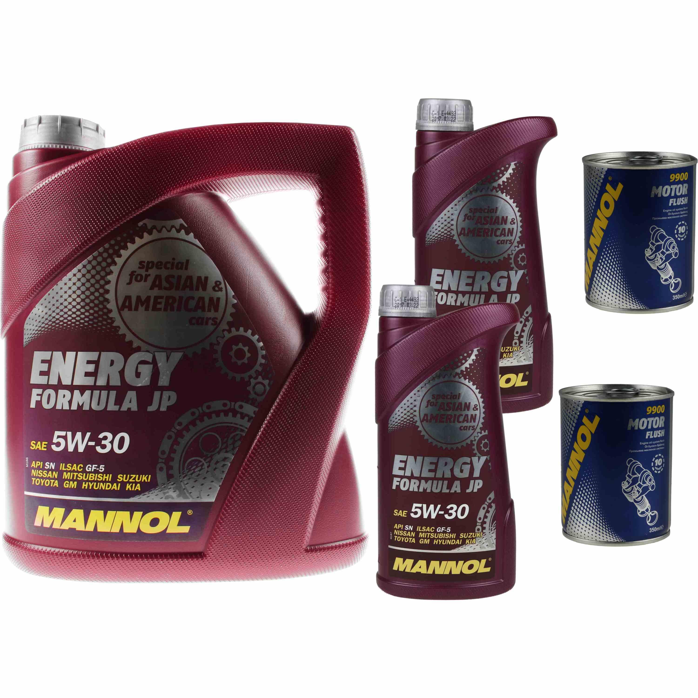 6L Motoröl MANNOL Energy Formula JP 5W-30 2x MANNOL Motor Flush ADDITIV