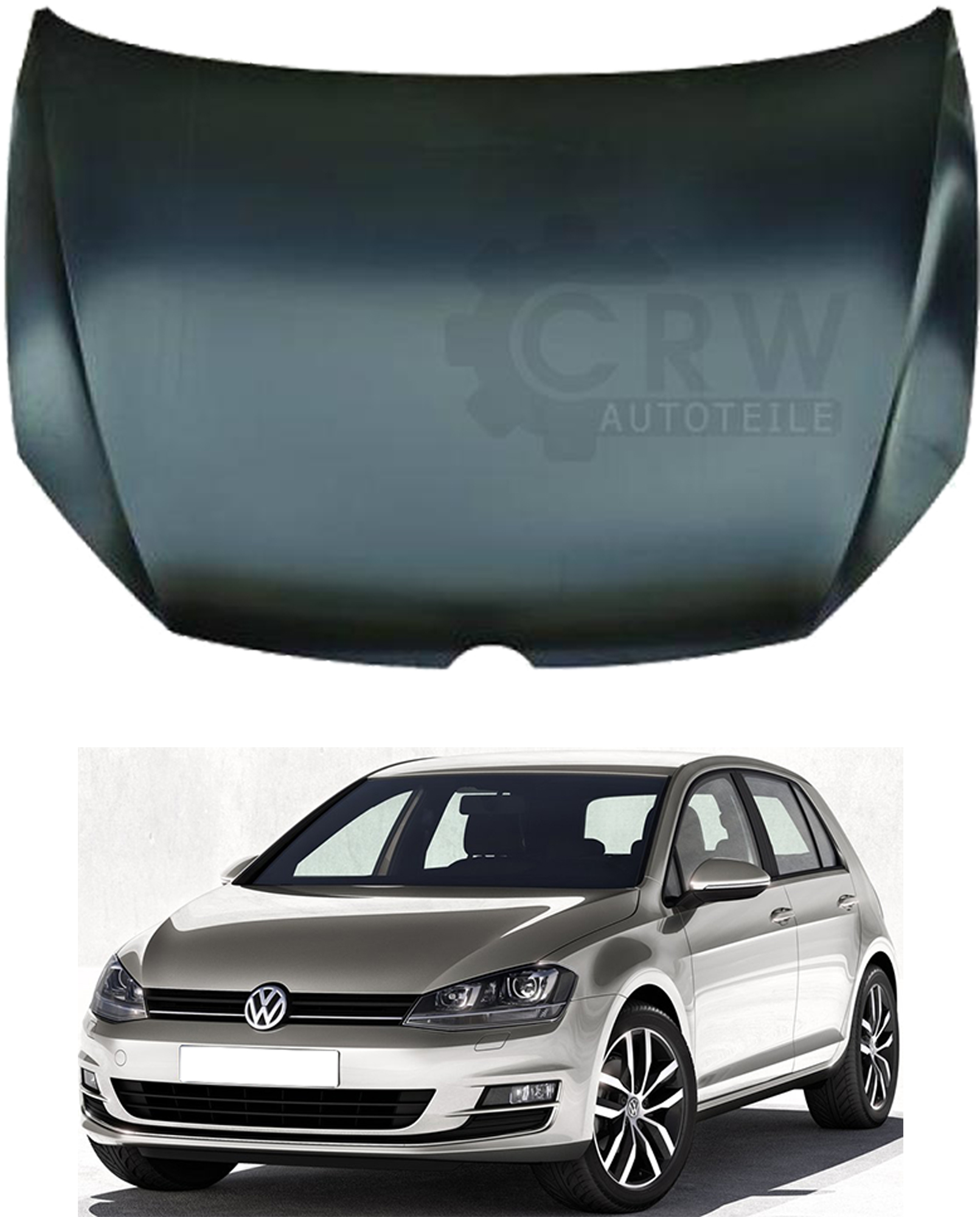 motorhaube bonnet vw golf vii 7 bj 12 typ 5g1 be1. Black Bedroom Furniture Sets. Home Design Ideas