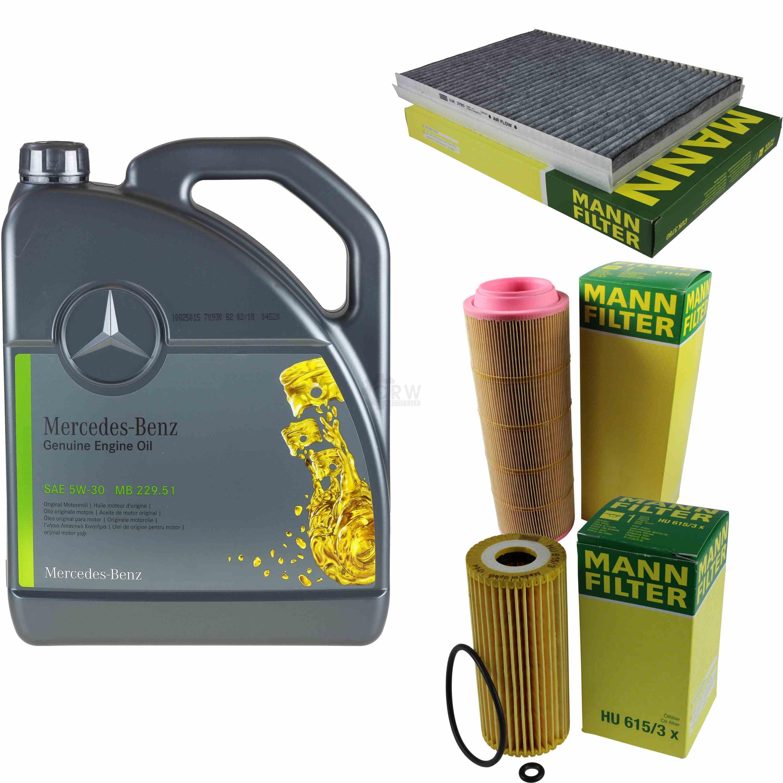 Inspektionspaket-5L-Mercedes-Ol-229-51-5W30-MANN-Filterpaket-11104090