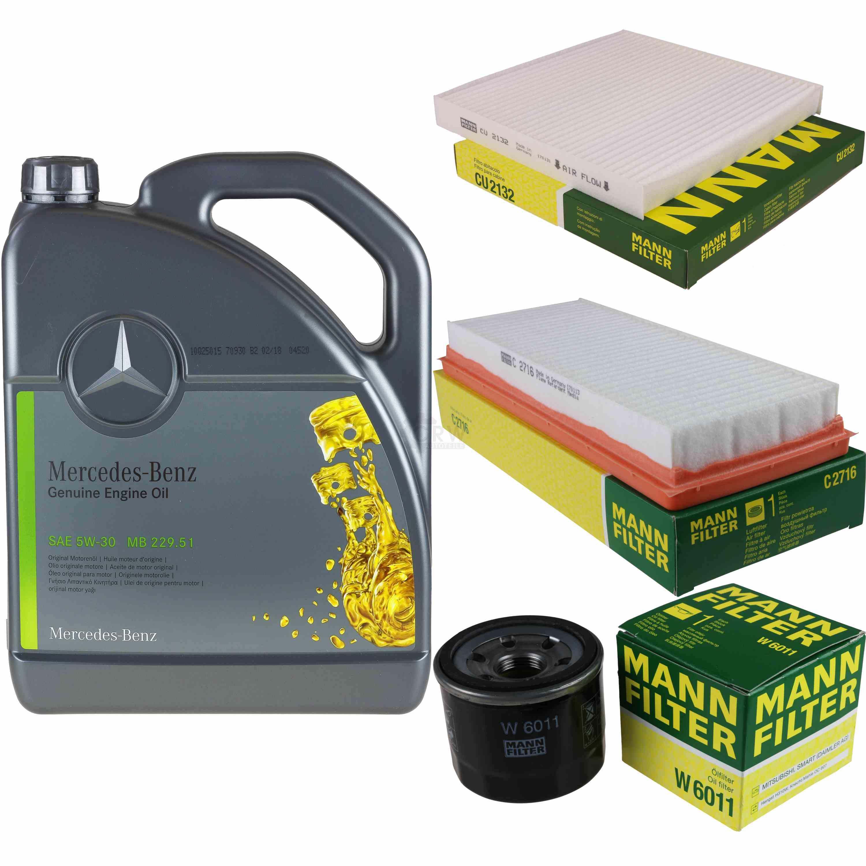 Inspektionspaket-5L-Mercedes-Ol-229-51-5W30-MANN-Filterpaket-11104094