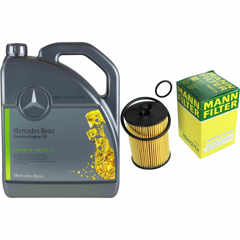 5L-Inspektionspaket-Mercedes-229-51-Motoroel-5W-30-MANN-Olfilter-11124917