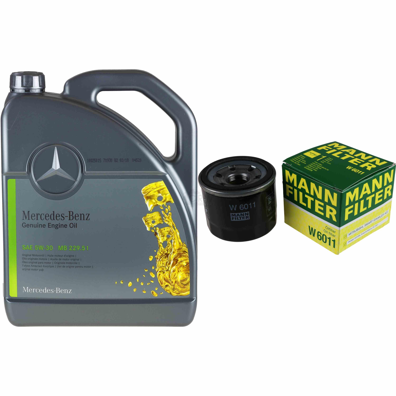 5L-Inspektionspaket-Mercedes-229-51-Motoroel-5W-30-MANN-Olfilter-11124948