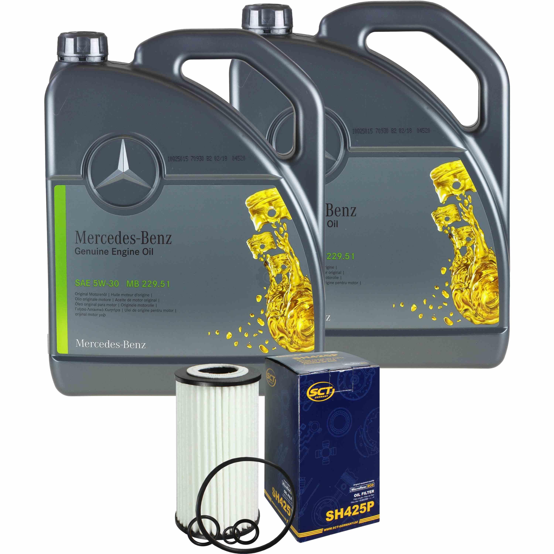 10L-Inspektionspaket-Mercedes-229-51-Motoroel-5W-30-MANN-Olfilter-11125642