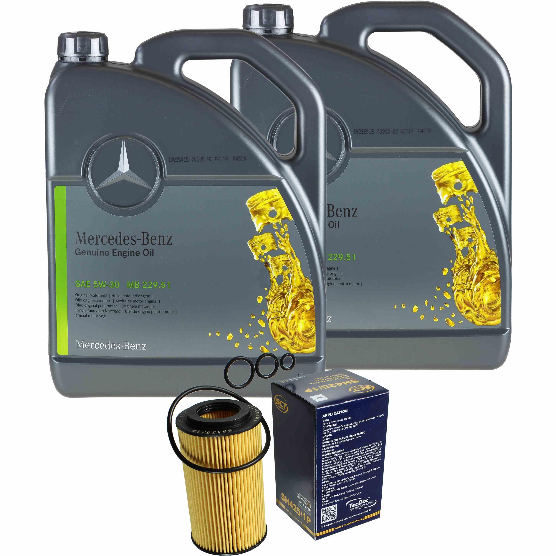 10l-paquete-de-inspeccion-mercedes-229-51-aceite-del-motor-5w-30-hombre-filtro-aceite-11125644