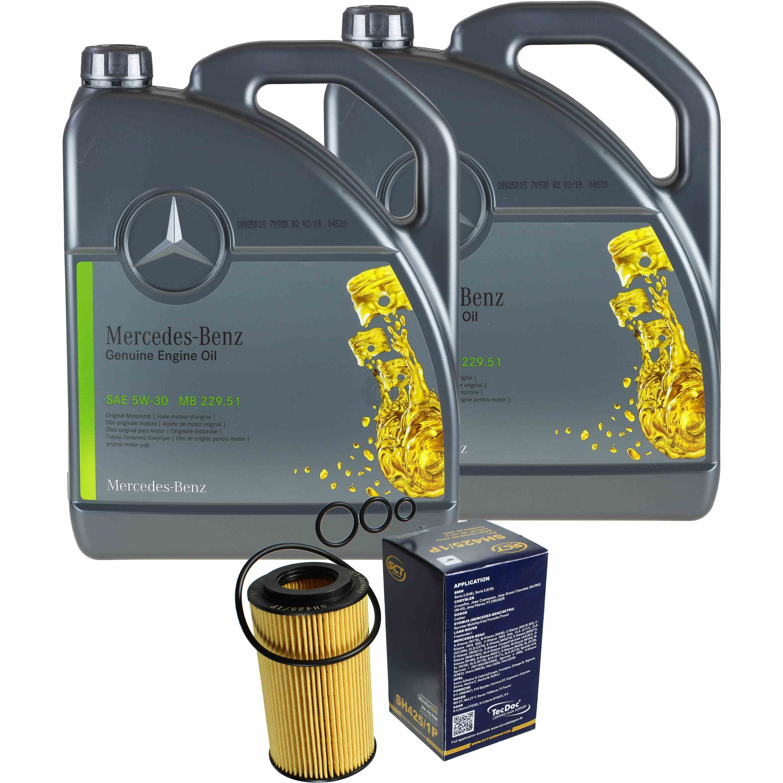 10L-Inspektionspaket-Mercedes-229-51-Motoroel-5W-30-MANN-Olfilter-11125644
