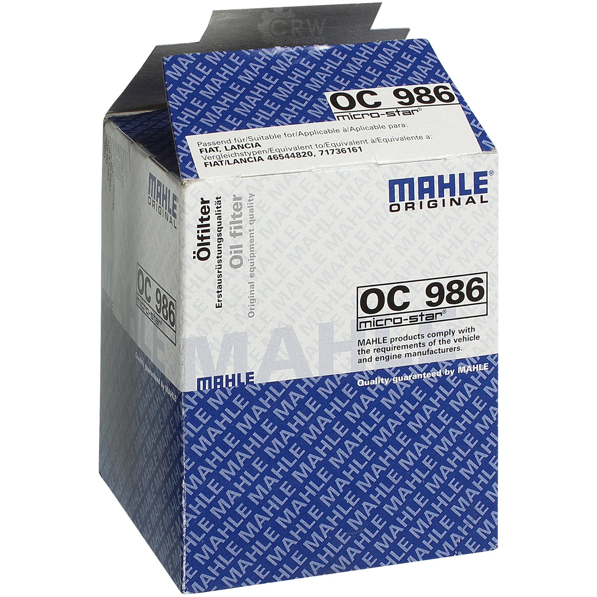 Original MAHLE KNECHT Ölfilter OC 485 Öl Filter Oil