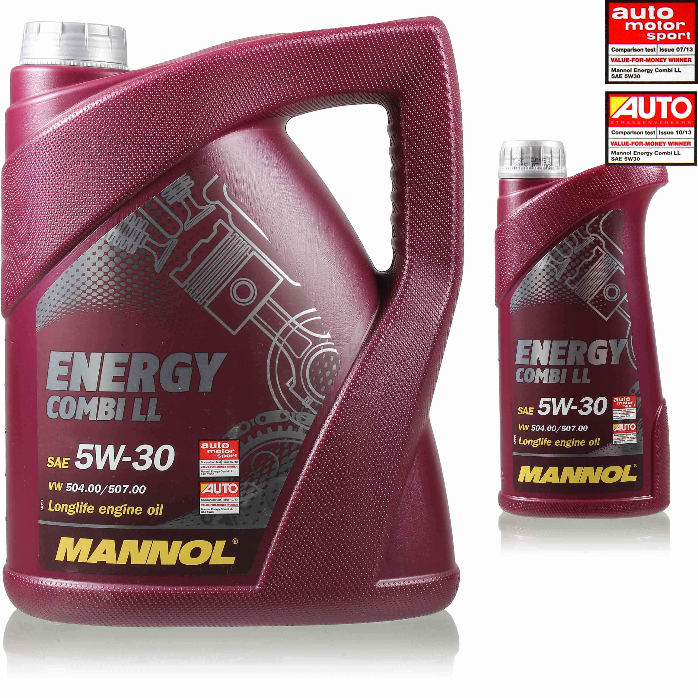 6 liter original mannol motor l energy combi ll 5w 30 api. Black Bedroom Furniture Sets. Home Design Ideas