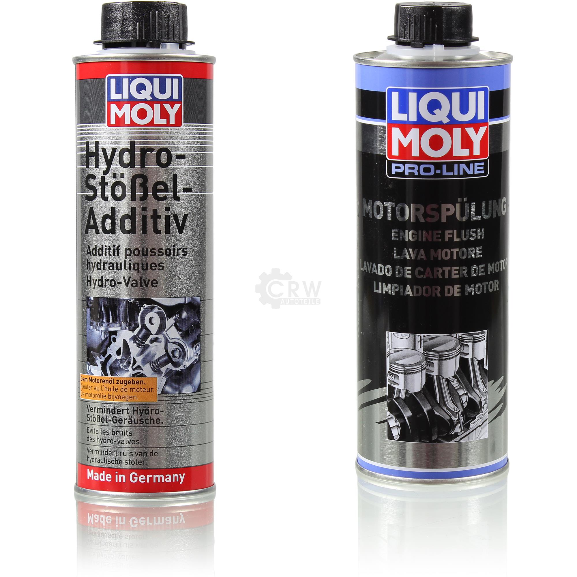 original liqui moly set hydro st el additiv und pro line. Black Bedroom Furniture Sets. Home Design Ideas