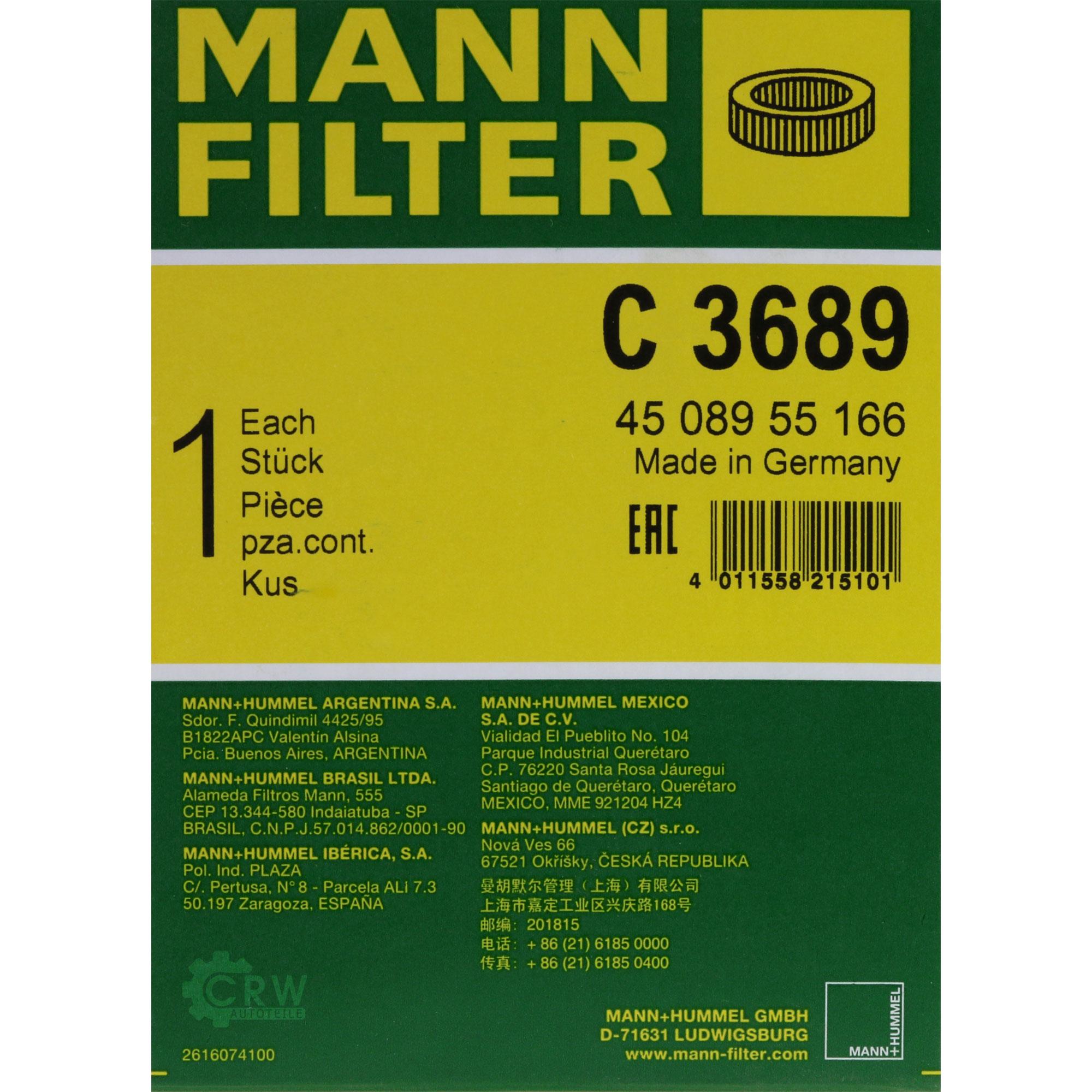 MANNOL-9L-Extreme-5W-40-Motor-Ol-MANN-FILTER-Mercedes-CLK-C209-500-SL-R230-350 Indexbild 9