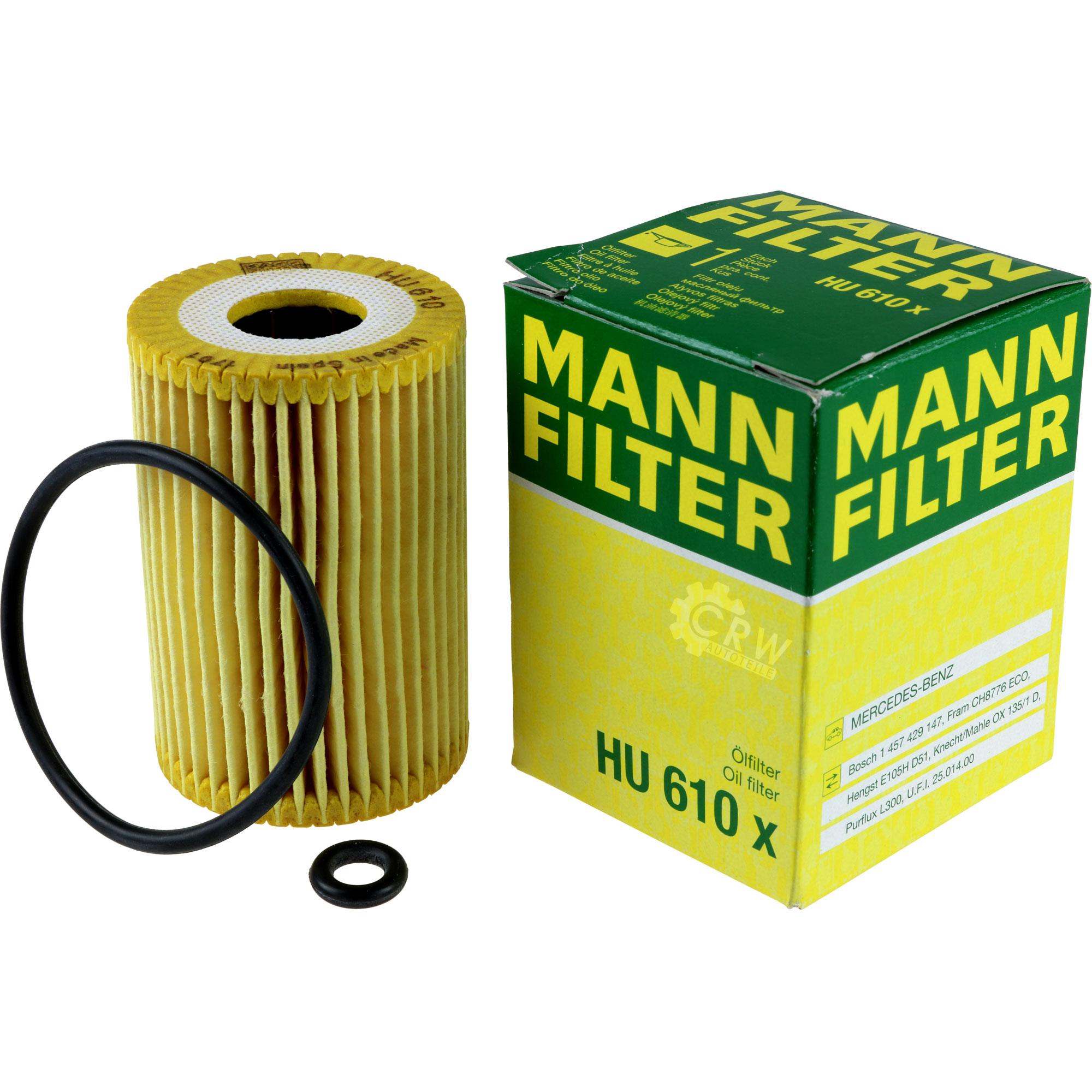 5L-Inspektionspaket-Mercedes-229-1-Motoroel-10W-40-MANN-Olfilter-11114062 Indexbild 3