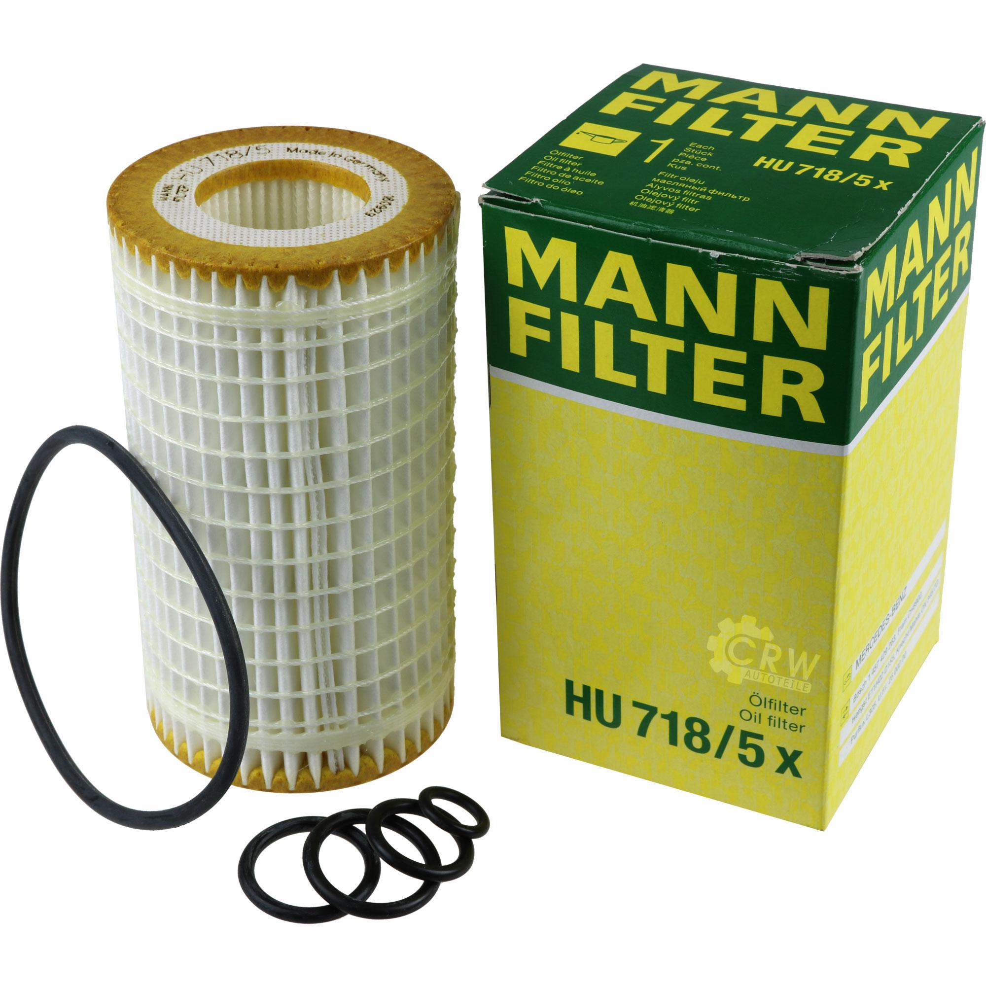 Inspektionspaket-10L-Mercedes-Ol-229-51-5W30-MANN-Luftfilter-Olfilter-11134262 Indexbild 4