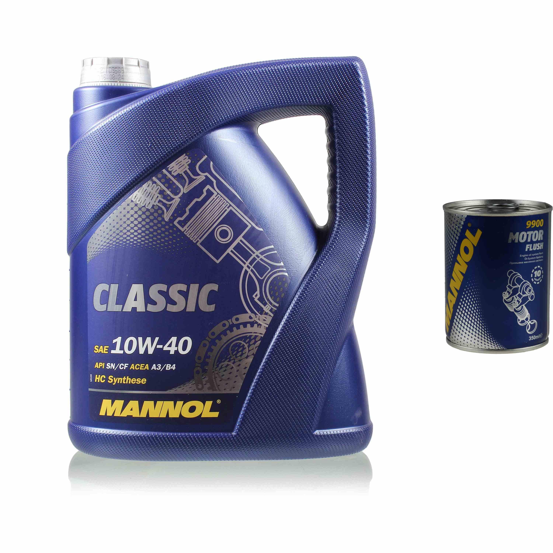 5L Motoröl MANNOL Classic 10W-40 1x MANNOL Motor Flush ADDITIV
