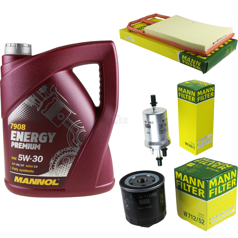 5l Mannol Energy Premium 5w -30+ Mann-filter Filtro Pacchetto Vw Polo 9n _ 1.6-ter Filterpaket Vw Polo 9n_ 1.6 It-it Mostra Il Titolo Originale