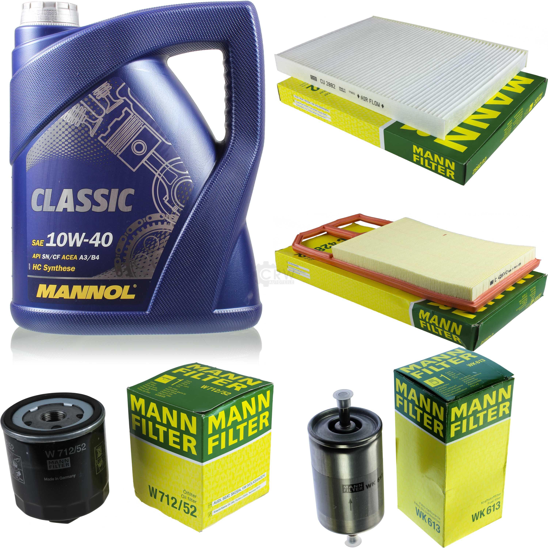 Abile Olio Motore 5l Mannol Classic 10w -40+ Mann-filter Filtro Pacchetto Vw Polo 6n1-lter Filterpaket Vw Polo 6n1 It-it Mostra Il Titolo Originale