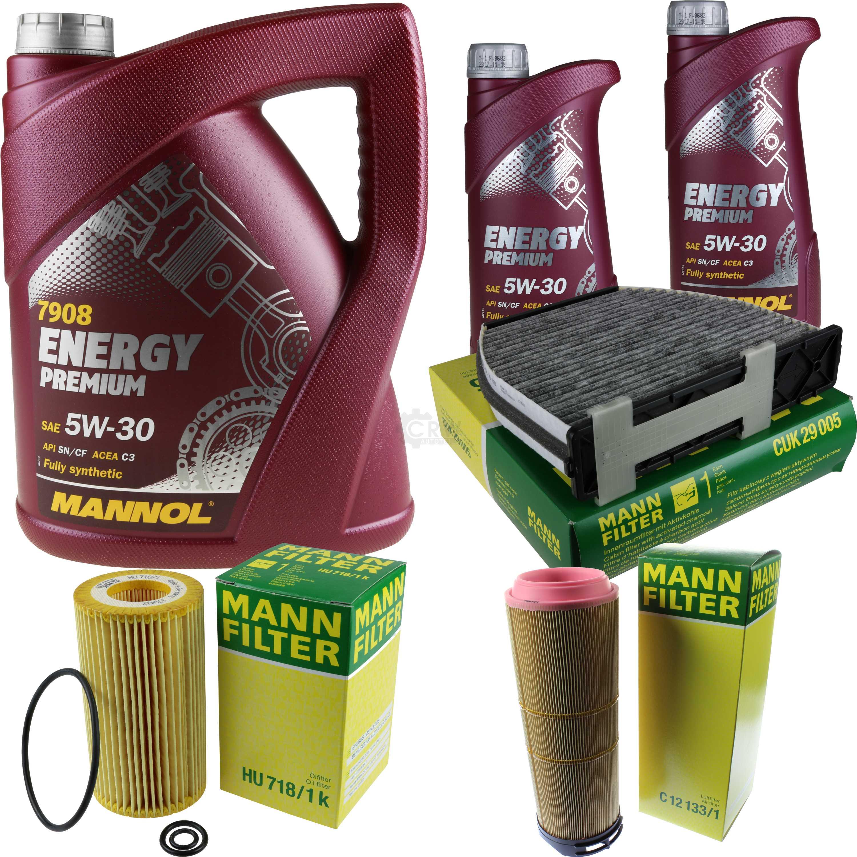 MANNOL-7-L-Energy-Premium-5W-30-MANN-FILTER-Mercedes-C-Klasse-W204-C-220-CDI