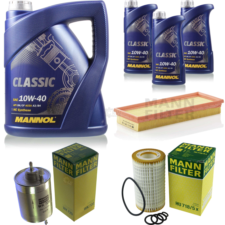 Motor-Oil-8L-Mannol-Classic-10W-40-Mann-Filter-Mercedes-benz-SLK-R170