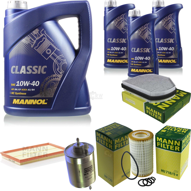 Motor-aceite-8l-MANNOL-Classic-10w-40-hombre-filtro-Filtro-paquete-Mercedes-Benz-CLK-c208