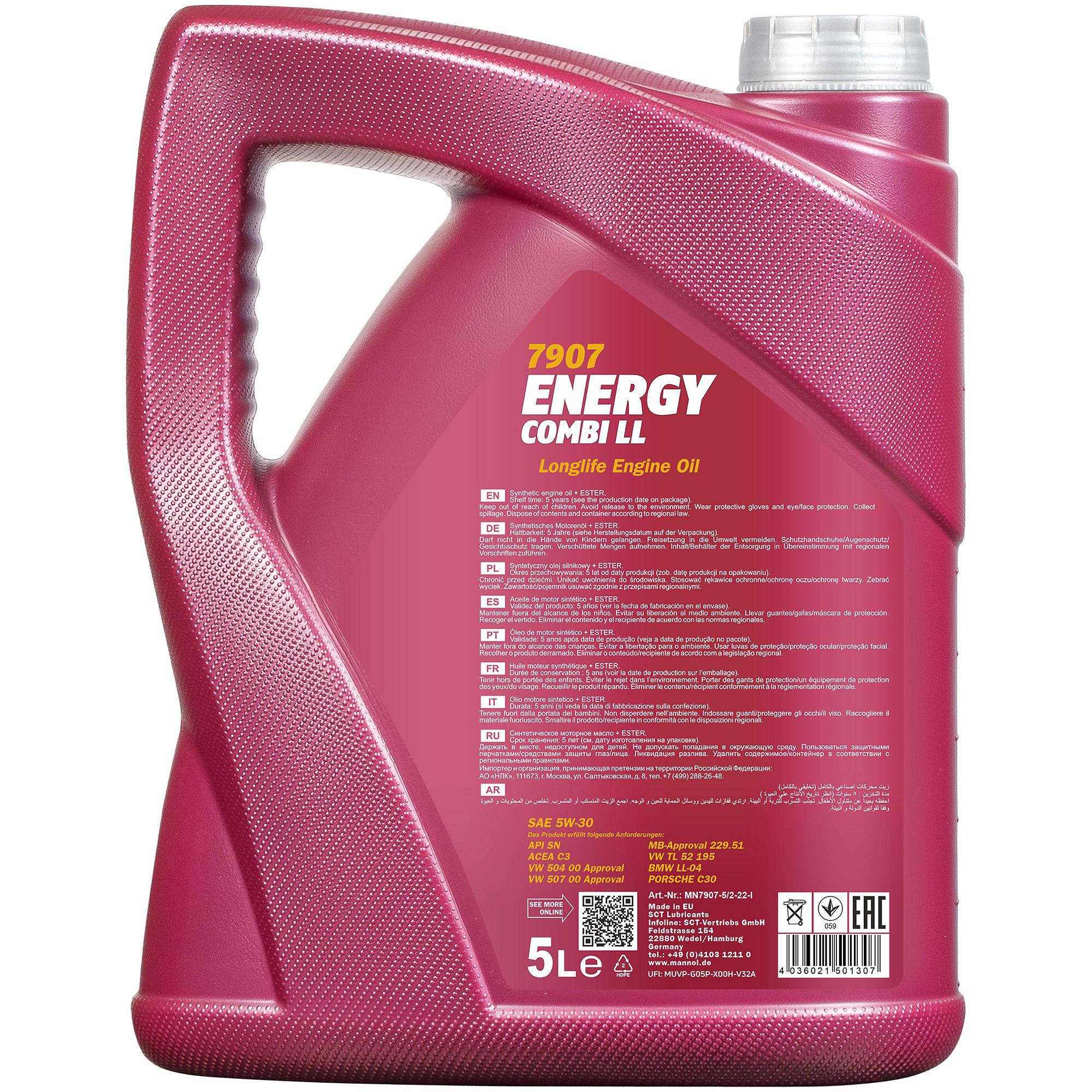 5l-aceite-del-motor-MANNOL-5w-40-10w-40-15w-40-5w-30-motorspulung-motor-flush-limpiador miniatura 22