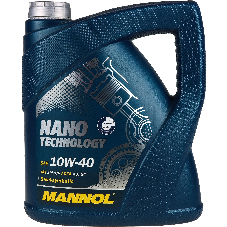 4l mannol nano technology 10w 40 api sm cf motor flush. Black Bedroom Furniture Sets. Home Design Ideas