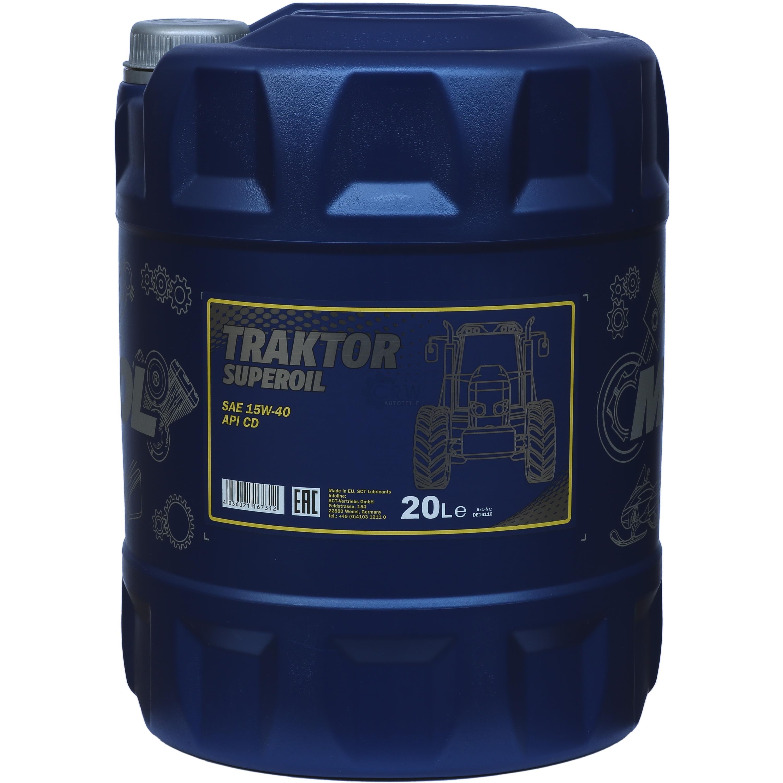 20 liter orignal mannol motor l traktor superoil api cd. Black Bedroom Furniture Sets. Home Design Ideas