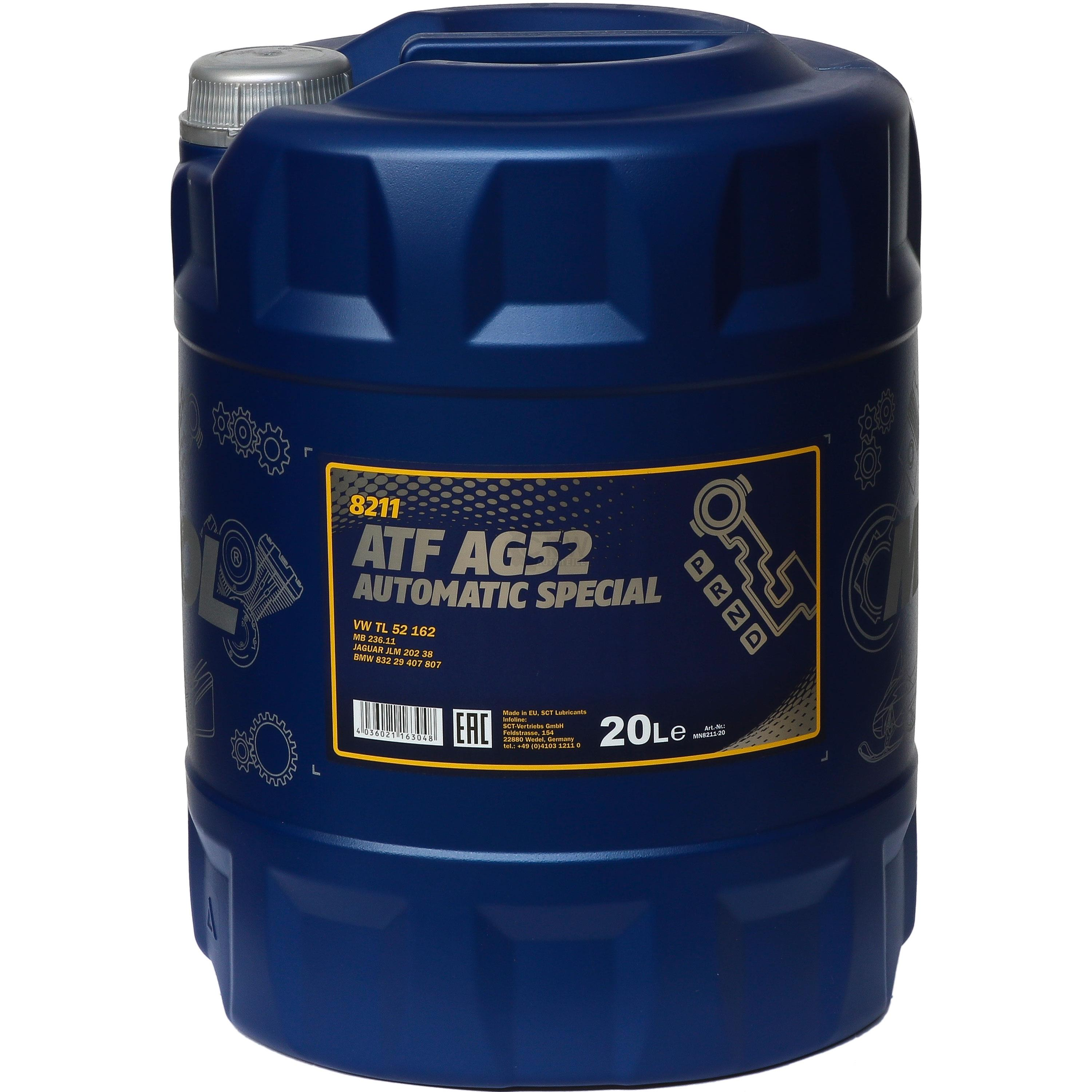 Details about 20 Liter Mannol Automatic Transmission Fluid Atf AG52 Special  Incl  Drain Cock