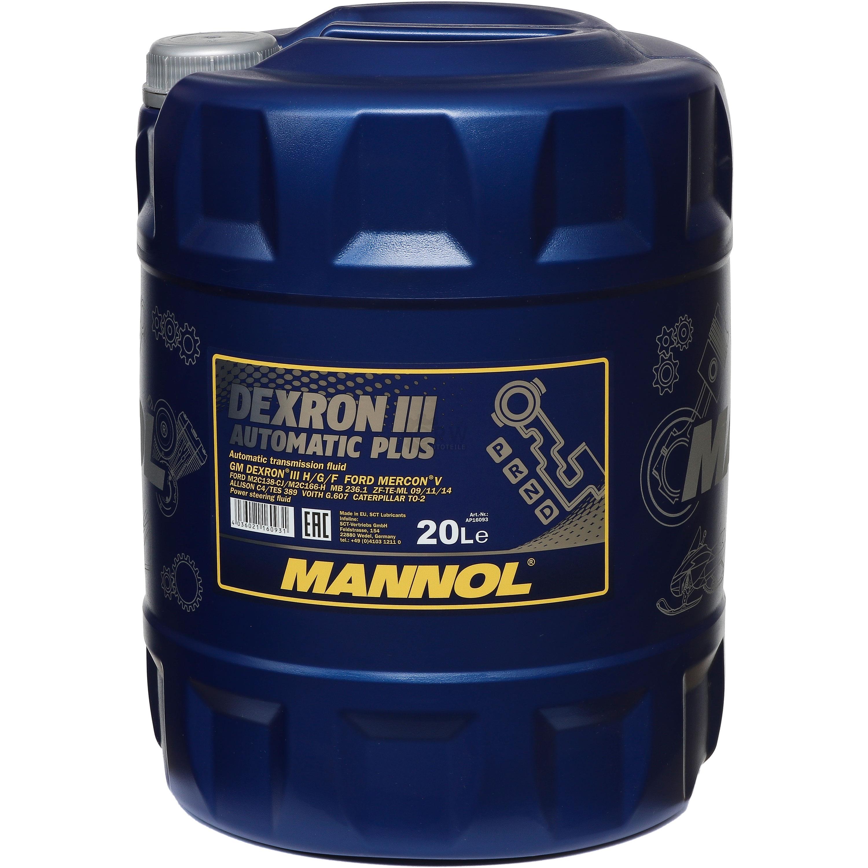 Details about 20 L Mannol Automatic Transmission Fluid Dexron III plus Gear  Oil + Drain Cock