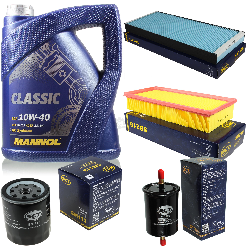 Olwechsel-Set-5L-MANNOL-Classic-10W-40-Motoroel-SCT-Filter-KIT-10134048