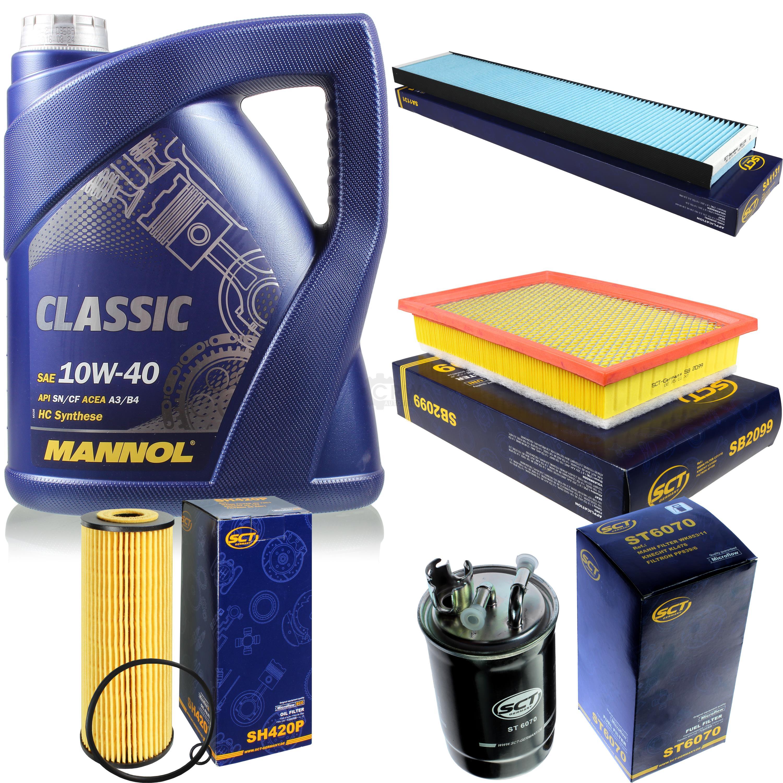 Olwechsel-Set-5L-MANNOL-Classic-10W-40-Motoroel-SCT-Filter-KIT-10135095