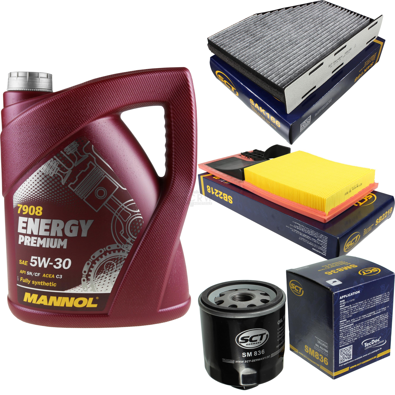 Olwechsel-Set-5L-MANNOL-Energy-Premium-5W-30-Motoroel-SCT-Filter-KIT-10138577