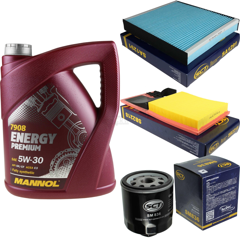 Cambio-de-aceite-set-5l-MANNOL-energy-premium-5w-30-aceite-del-motor-filtro-sct-kit-10138625