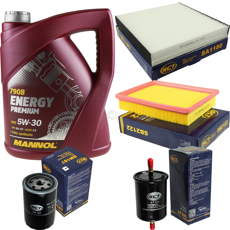 Cambio-de-aceite-set-5l-MANNOL-energy-premium-5w-30-aceite-del-motor-filtro-sct-kit-10140337