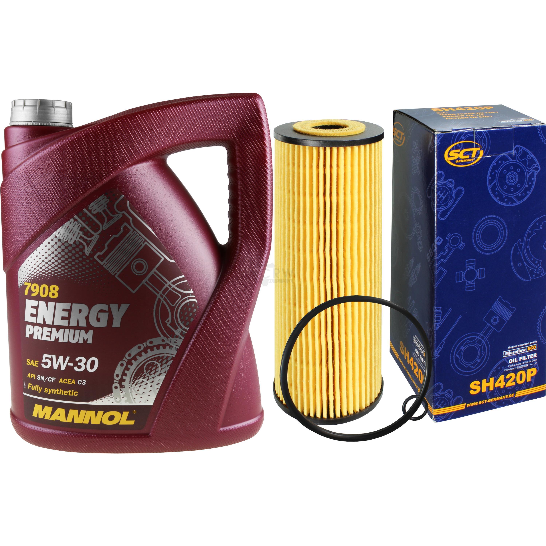 Cambio-de-aceite-set-5l-MANNOL-energy-premium-5w-30-sct-filtro-aceite-Service-10164411