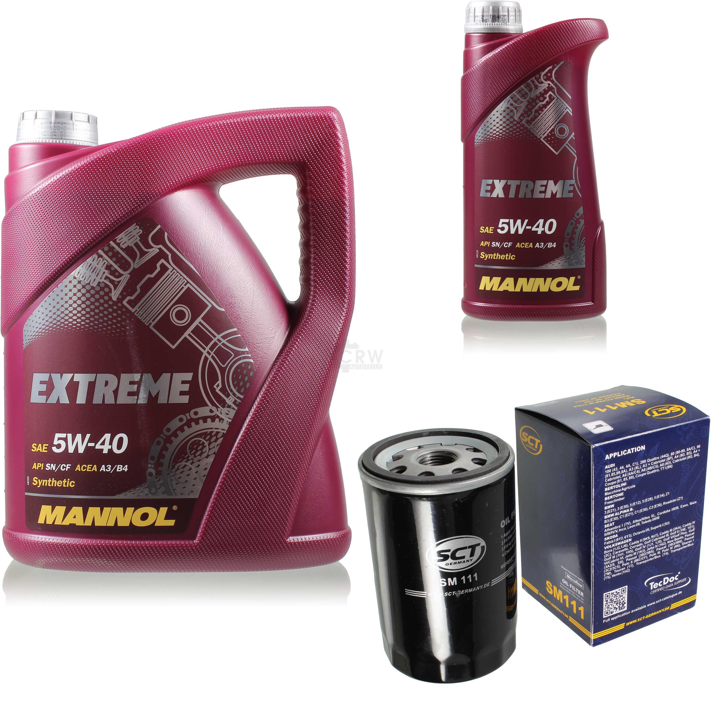 Olwechsel-Set-6L-MANNOL-Extreme-5W-40-Motoroel-SCT-Filter-KIT-10190815
