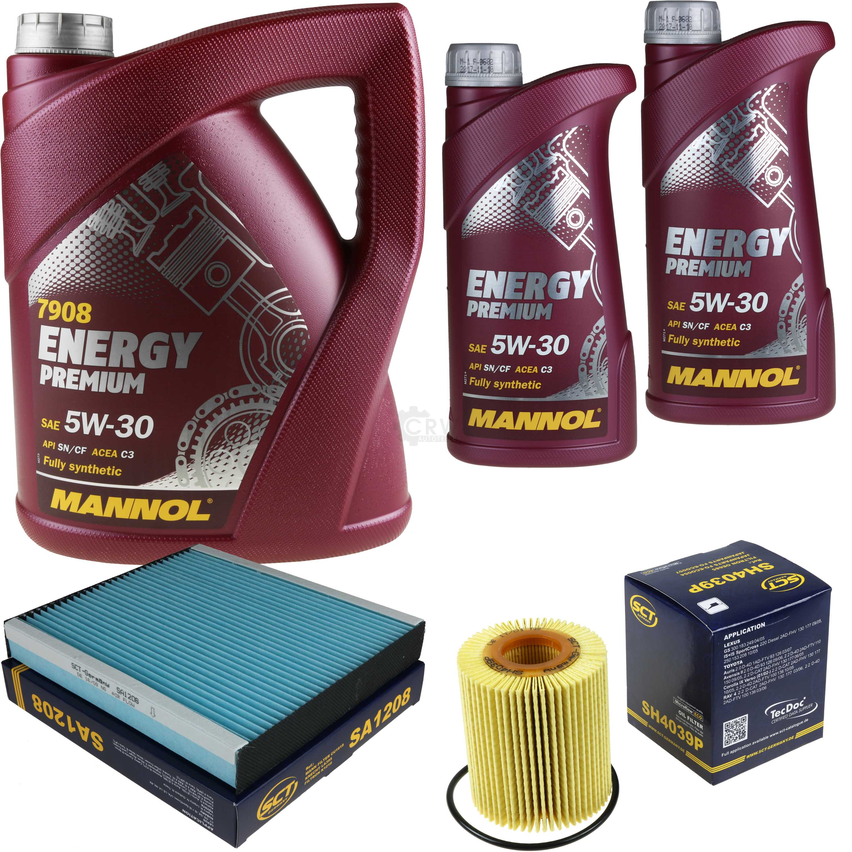 Cambio-de-aceite-set-7l-MANNOL-energy-premium-5w-30-aceite-del-motor-filtro-sct-kit-10196722