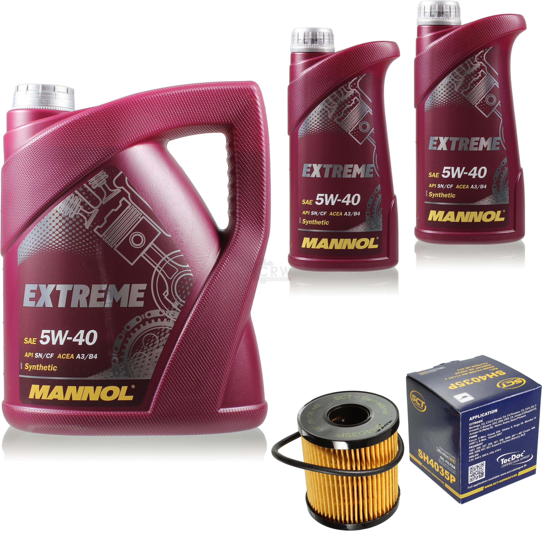 Olwechsel-Set-7L-MANNOL-Extreme-5W-40-Motoroel-SCT-Filter-KIT-10198612