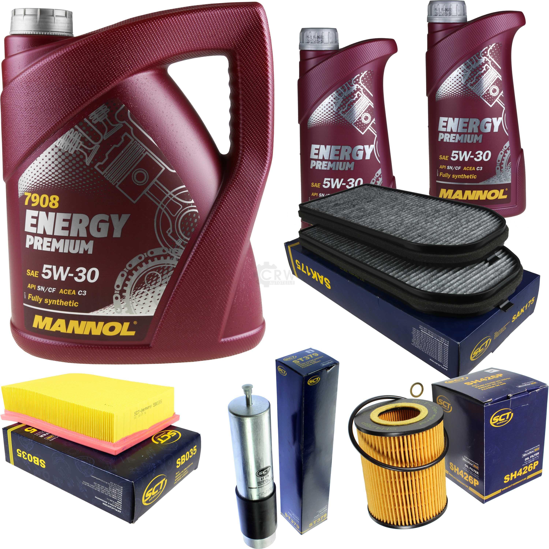 Olwechsel-Set-7L-MANNOL-Energy-Premium-5W-30-Motoroel-SCT-Filter-KIT-10200892